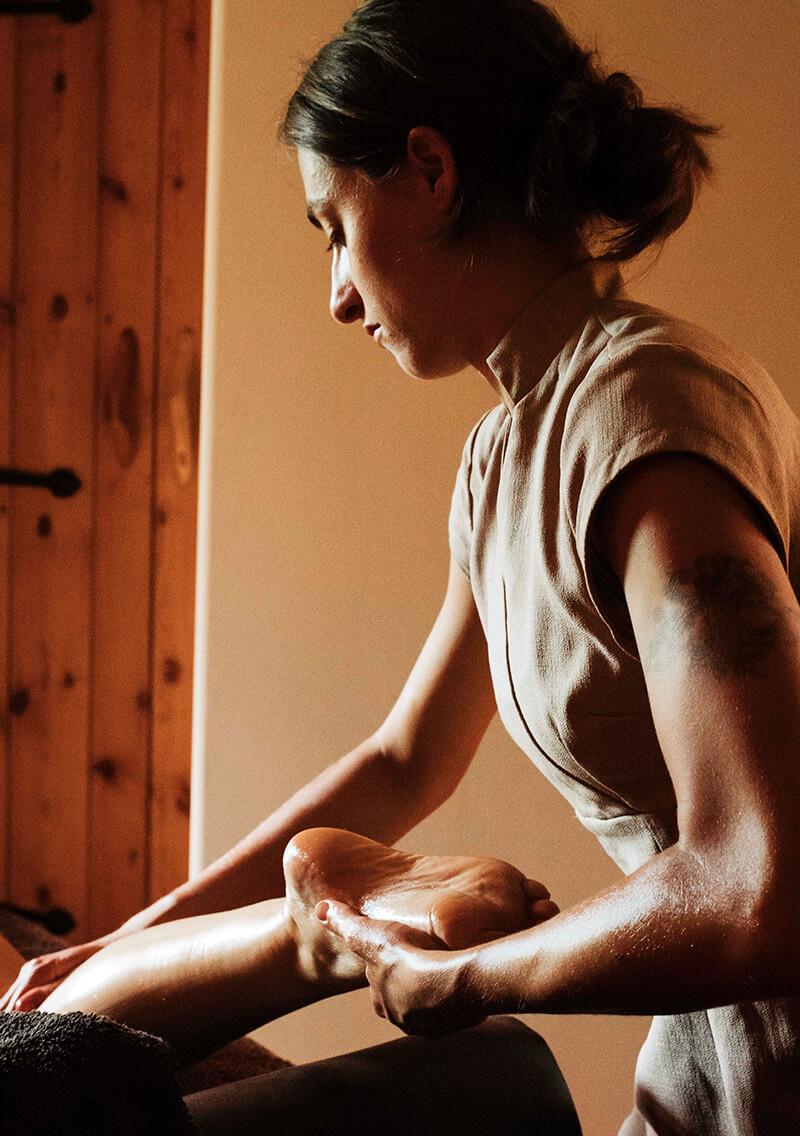 Reviving foot massage by an accredited Reflexologist
