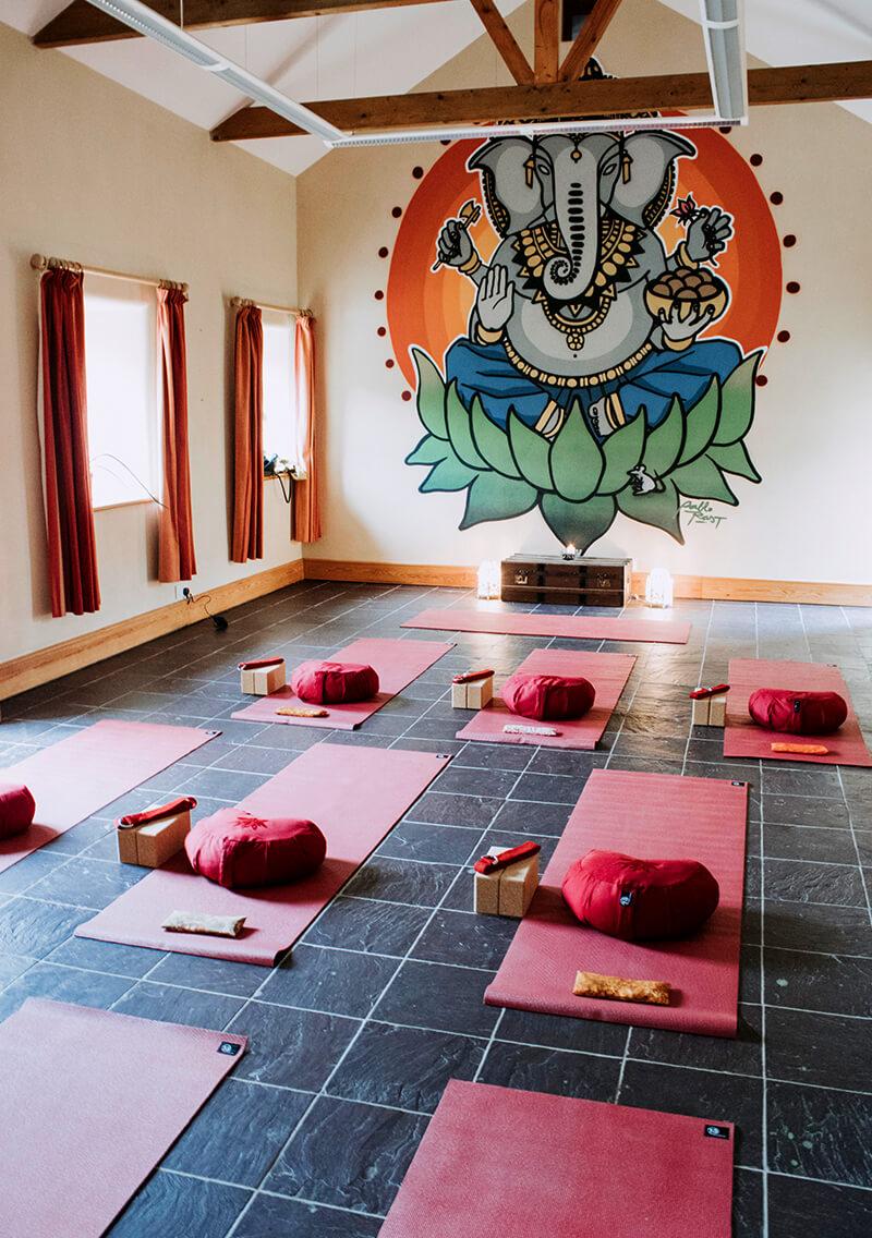 A beautiful Yoga space in dedicated eco barn
